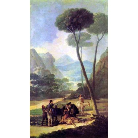 Francisco José de Goya -La Caída-Art gallery oil painting reproductions