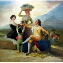 Francisco José de Goya -Lavendimia_Goya_lou-Art gallery oil painting reproductions