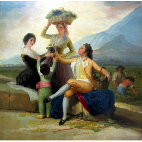 Francisco José de Goya -Lavendimia_Goya_lou-Art gallery oil painting reproductions