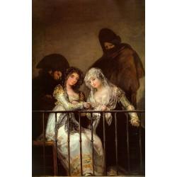 Francisco José de Goya -Majas On A Balcony-Art gallery oil painting reproductions