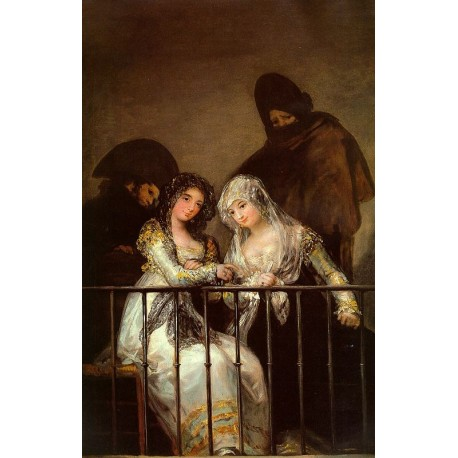 Francisco José de Goya -Majas On A Balcony-Art gallery oil painting reproductions