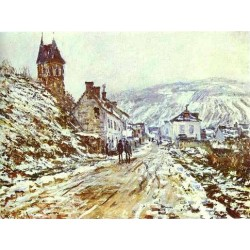 The Road to Vetheuil by Claude Oscar Monet - Art gallery oil painting reproductions