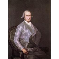Francisco José de Goya -portrait-of-francisco-bayeu-Art gallery oil painting reproductions
