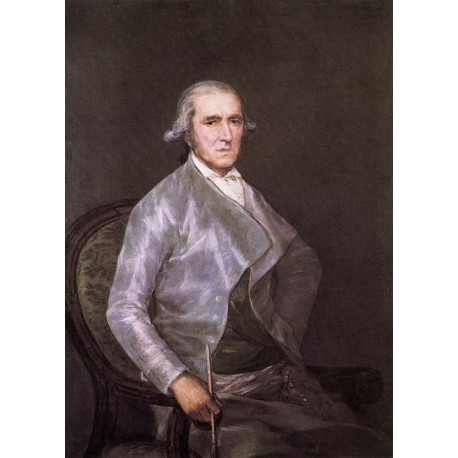 Francisco José de Goya -portrait-of-francisco-bayeu-Art gallery oil painting reproductions