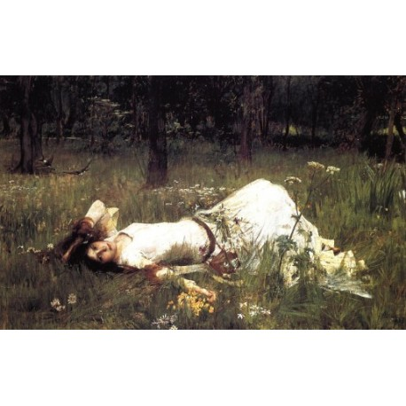 Ophelia 1889 by John William Waterhouse-Art gallery oil painting reproductions