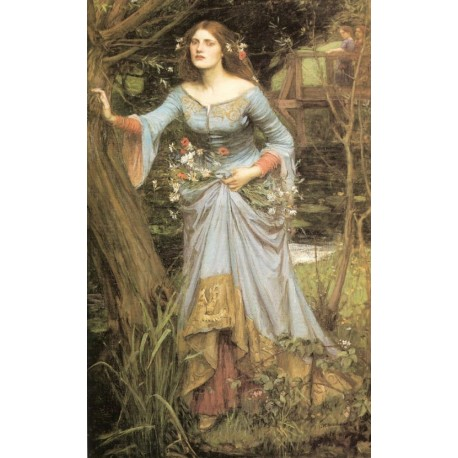 Ophelia 1910 by John William Waterhouse -Art gallery oil painting reproductions
