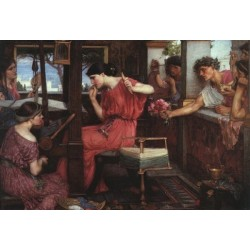 Penelope and the Suitors 1912 by John William Waterhouse -Art gallery oil painting reproductions