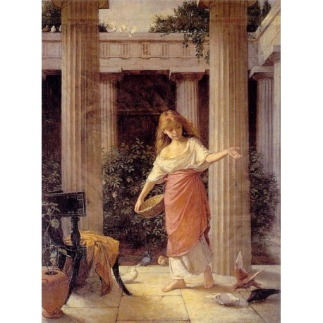 Peristyle by John William Waterhouse -Art gallery oil painting reproductions