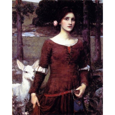 The Lady Clare 1900 by John William Waterhouse-Art gallery oil painting reproductions