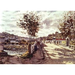The Seine at Bougival by Claude Oscar Monet - Art gallery oil painting reproductions