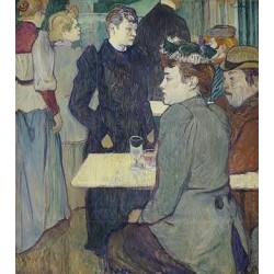 A Corner of the Moulin de la Galette 1892 by Henri de Toulouse-Lautrec-Art gallery oil painting reproductions