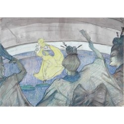 At The Circus 1899 by Henri de Toulouse-Lautrec--Art gallery oil painting reproductions