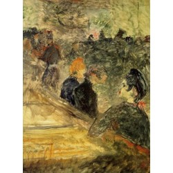 A Ball at the Moulin de la Galette by Henri de Toulouse- Lautrec-Art gallery oil painting reproductions