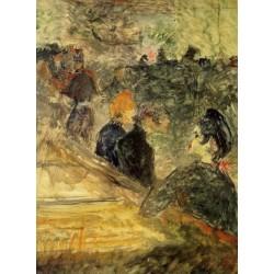 A Ball at the Moulin de la Galette by Henri de Toulouse- Lautrec-Art gallery oil painting reproductions