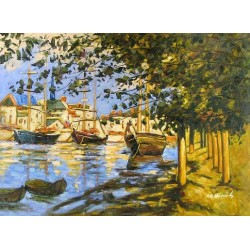 The Seine River by Claude Oscar Monet - Art gallery oil painting reproductions