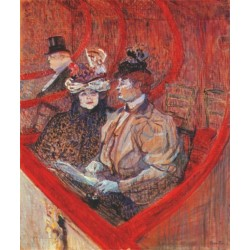 A Box at the Theater by Henri  de Toulouse-Lautrec-Art gallery oil painting reproductions