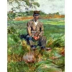 A Laborer at Celeyran by Henri de Toulouse-Lautrec -Art gallery oil painting reproductions