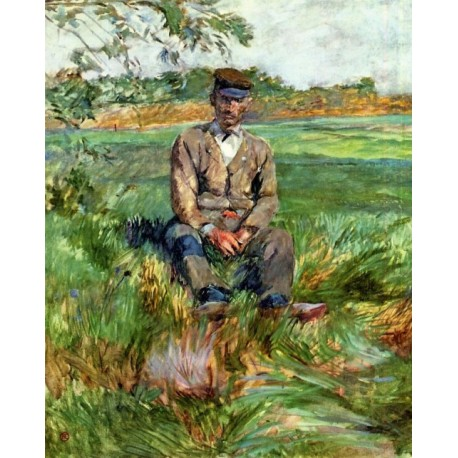 A Laborer at Celeyran by Henri de Toulouse-Lautrec -Art gallery oil painting reproductions