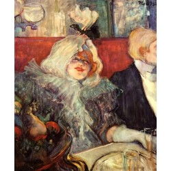 A Private Room at the Rat Mort by Henri de Toulouse-Lautrec-Art gallery oil painting reproductions