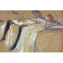 Alone by Henri de Toulouse-Lautrec-Art gallery oil painting reproductions