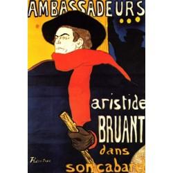 Ambassadeurs Artistide Bruant dans son Cabaret by Henri de Toulouse-Lautrec -Art gallery oil painting reproductions