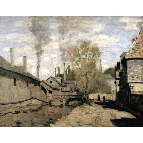 The Stream of Robec Rouen by Claude Oscar Monet - Art gallery oil painting reproductions