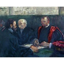 An Examination at the Faculty of Medicine, Paris by Henri de Toulous-Lautrec-Art gallery oil painting reproductions