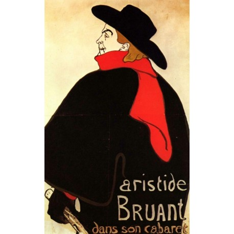 Artistide Bruant dans son Cabaret by Henri de Toulouse-Lautrec-Art gallery oil painting reproductions