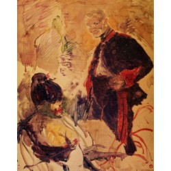 Artillerman and Girl by Henri de Toulouse-LautrecArt gallery oil painting reproductions