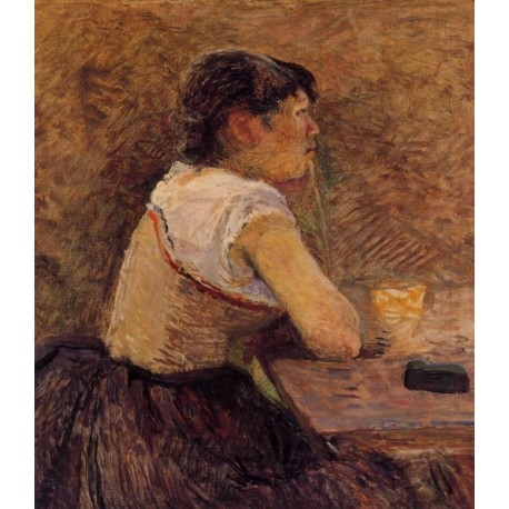 At Gennelle Absin, The Drinker by Henri de Toulouse-Lautrec-Art gallery oil painting reproductions