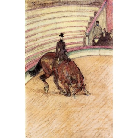 At The Circus Dressage by Henri de Toulouse-Lautrec-Art gallery oil painting reproductions