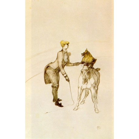 At The Circus, The Animal Trainer by Henri de Toulouse-Lautrec-Art gallery oil painting reproductions