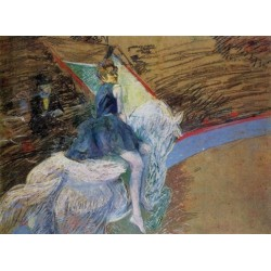 At the Cirque Fernando, Rider on a White Horse by Henri de Toulouse-Lautrec-Art gallery oil painting reproductions