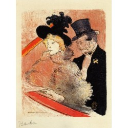 At the Concert by Henri de Toulouse-Lautrec-Art gallery oil painting reproductions