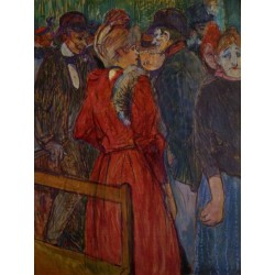 At the Moulin de la Galette by Henri de Toulouse-Lautrec-Art gallery oil painting reproductions