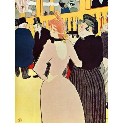 At the Moulin Rouge, La Goulue with Her Sister by Henri de Toulouse-Lautrec-Art gallery oil painting reproductions