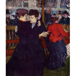 At The Moulin Rouge, The Two Waltzers by Henri de Toulouse-Lautrec-At the Concert-Art gallery oil painting reproductions