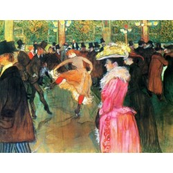 At the Moulin Rouge, The Dance by Henri de Toulouse-Lautrec-Art gallery oil painting reproductions