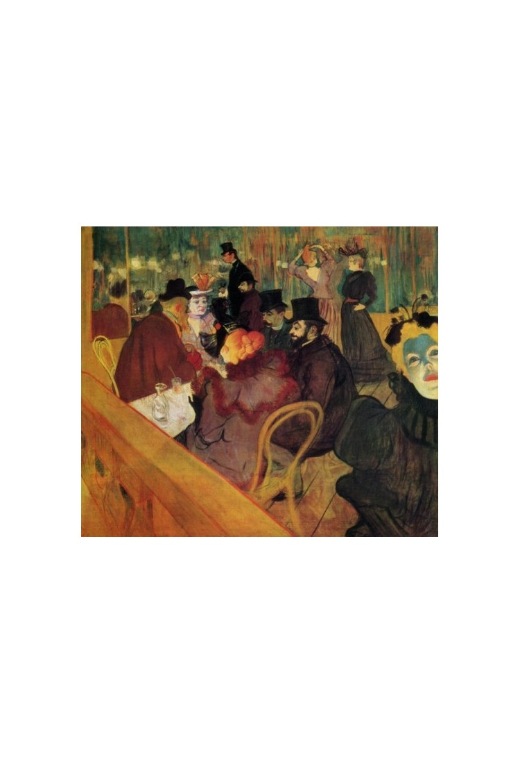 At The Moulin Rouge By Henri De Toulouse Lautrec Art