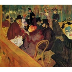 At The Moulin Rouge by Henri de Toulouse-Lautrec-Art gallery oil painting reproductions