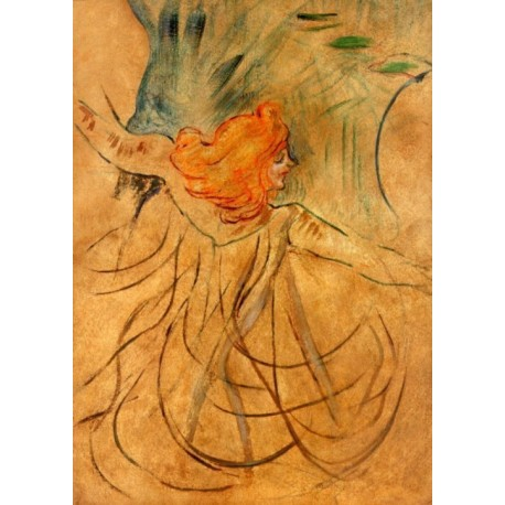 At the Music Hall Loie Fuller by Henri de Toulouse-Lautrec-Art gallery oil painting reproductions
