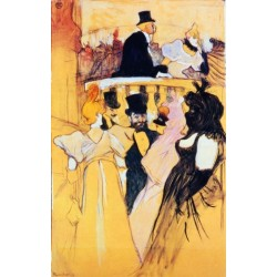 At the Opera Ball by Henri de Toulouse-Lautrec-Art gallery oil painting reproductions