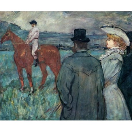 At the Races by Henri de Toulouse-Lautrec-Art gallery oil painting reproductions