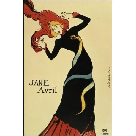 Jane Avril1899 by Henri de Toulouse-Lautrec-Art gallery oil painting reproductions