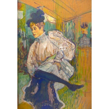Jane Avril Dancing 1892 by Henri de Toulouse-Lautrec-Art gallery oil painting reproductions
