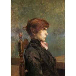 Jeanne Wenz 1886 by Henri de Toulouse-Lautrec-Art gallery oil painting reproductions