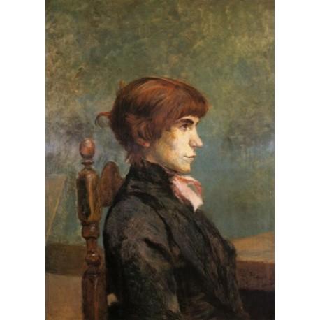 Jeanne Wenz 1886 by Henri de Toulouse-Lautrec-Art gallery oil painting reproductions