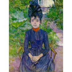 Justine Dieuhl 1891 by Henri de Toulouse-Lautrec-Art gallery oil painting reproductions