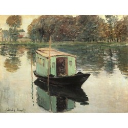 The Studio Boat by Claude Oscar Monet - Art gallery oil painting reproductions