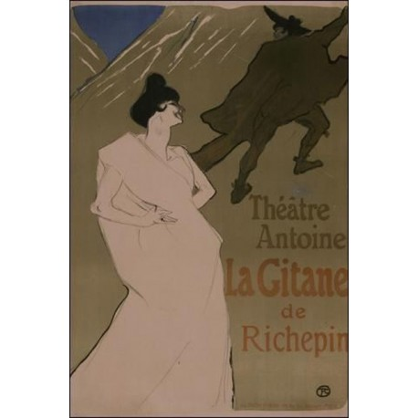 La Gitane 1900 by Henri de Toulouse-Lautrec-Art gallery oil painting reproductions